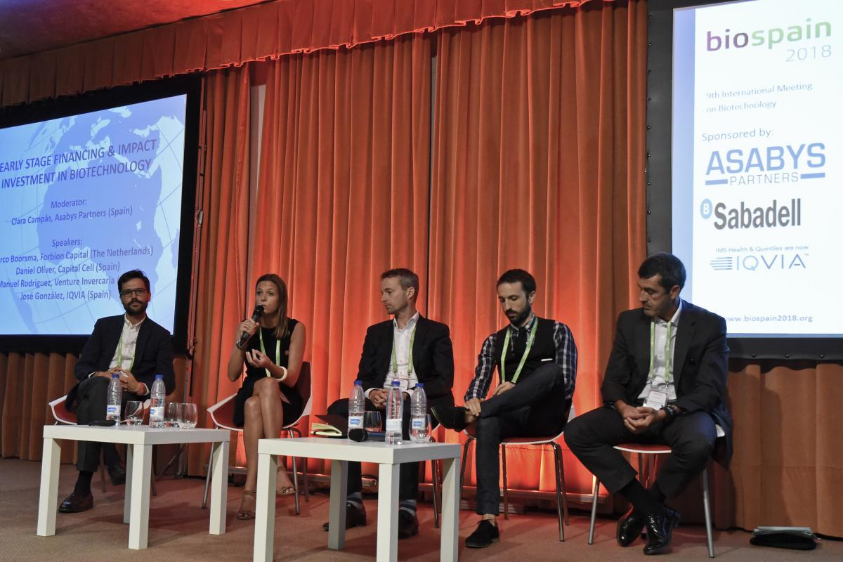 Round table on investments in early-stage companies, at BioSpain 2018